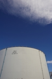 Mining Photo Stock Library - large fuel storage towers. ( Weight: 1  New Image: NO)