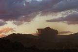Mining Photo Stock Library - silhouette of loaded haul truck on mine site.  photo taken at dusk. ( Weight: 2  New Image: NO)